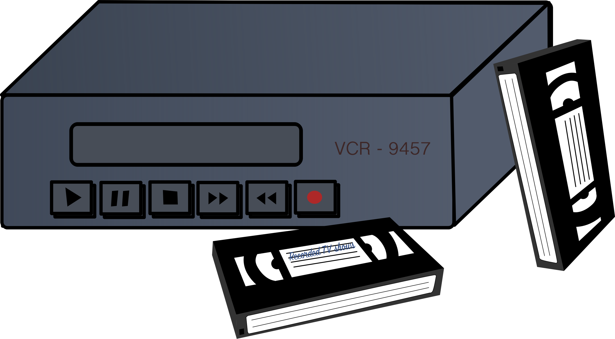 Tape clipart vhs tape. Vcr and tapes big