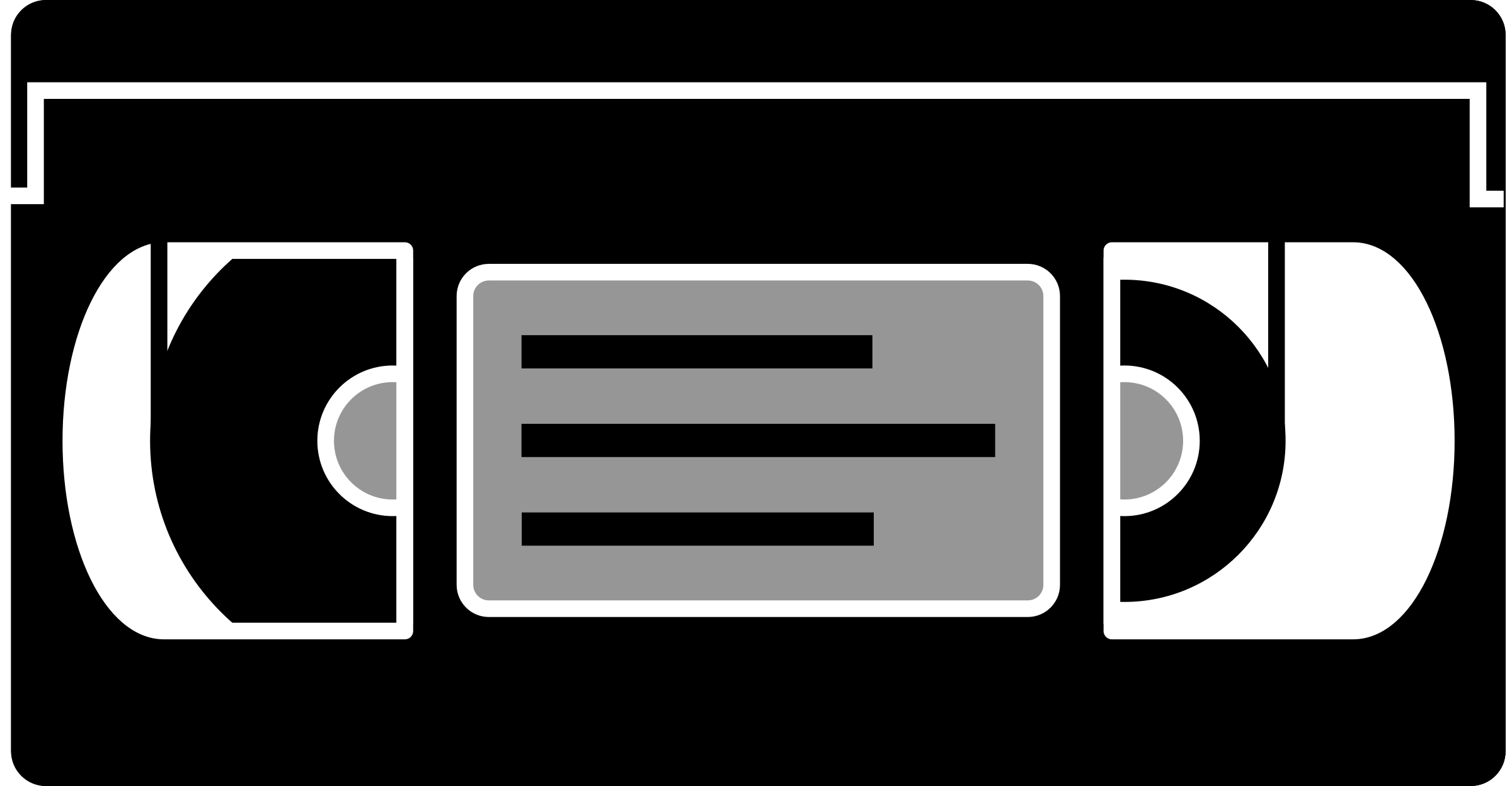 Tape clipart vhs tape. Simple big image png