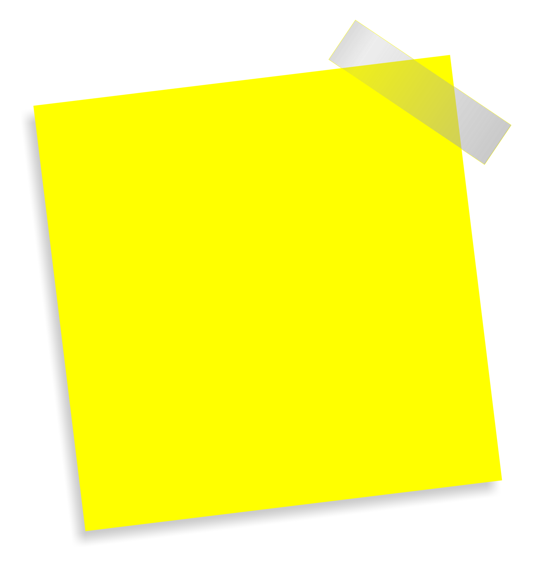 Taped note png. Of a transparent images