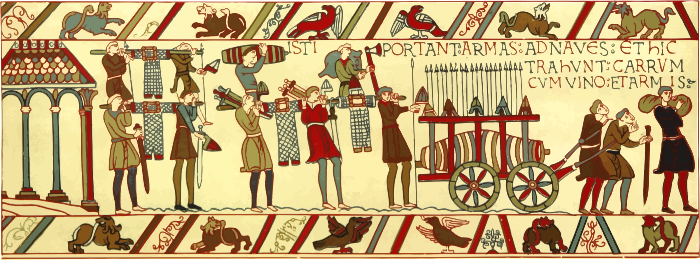 Tapestry clip bayeux. Part of icons png