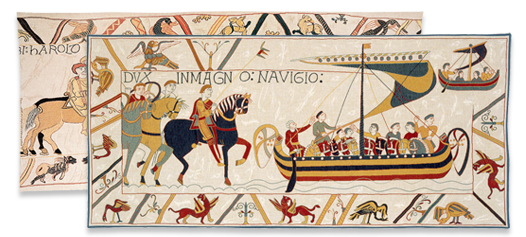 Tapestry clip bayeux. Jules pansu collection tapestries
