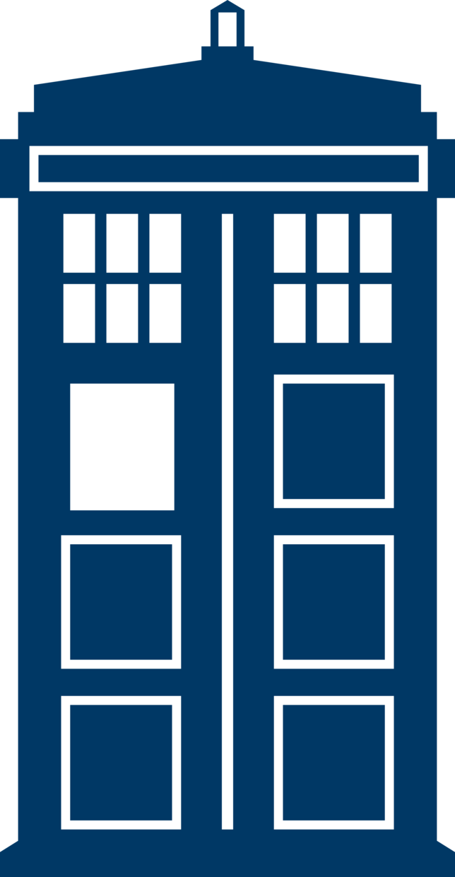 Transparent tardis silhouette. This was so hard