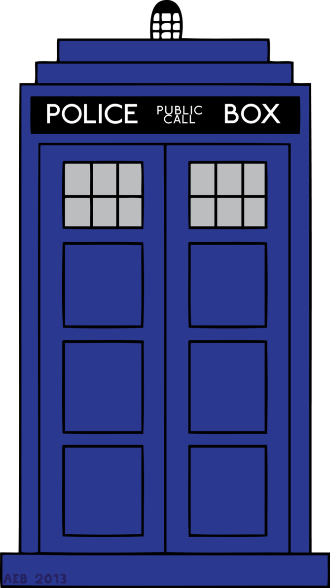 transparent tardis small