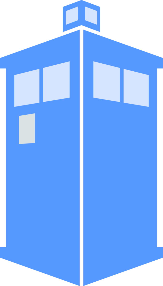 Transparent tardis silhouette. Free icon simple download