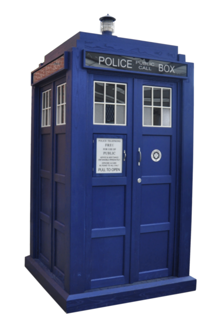 Transparent tardis doctor who. Background by corrosivelyclassic