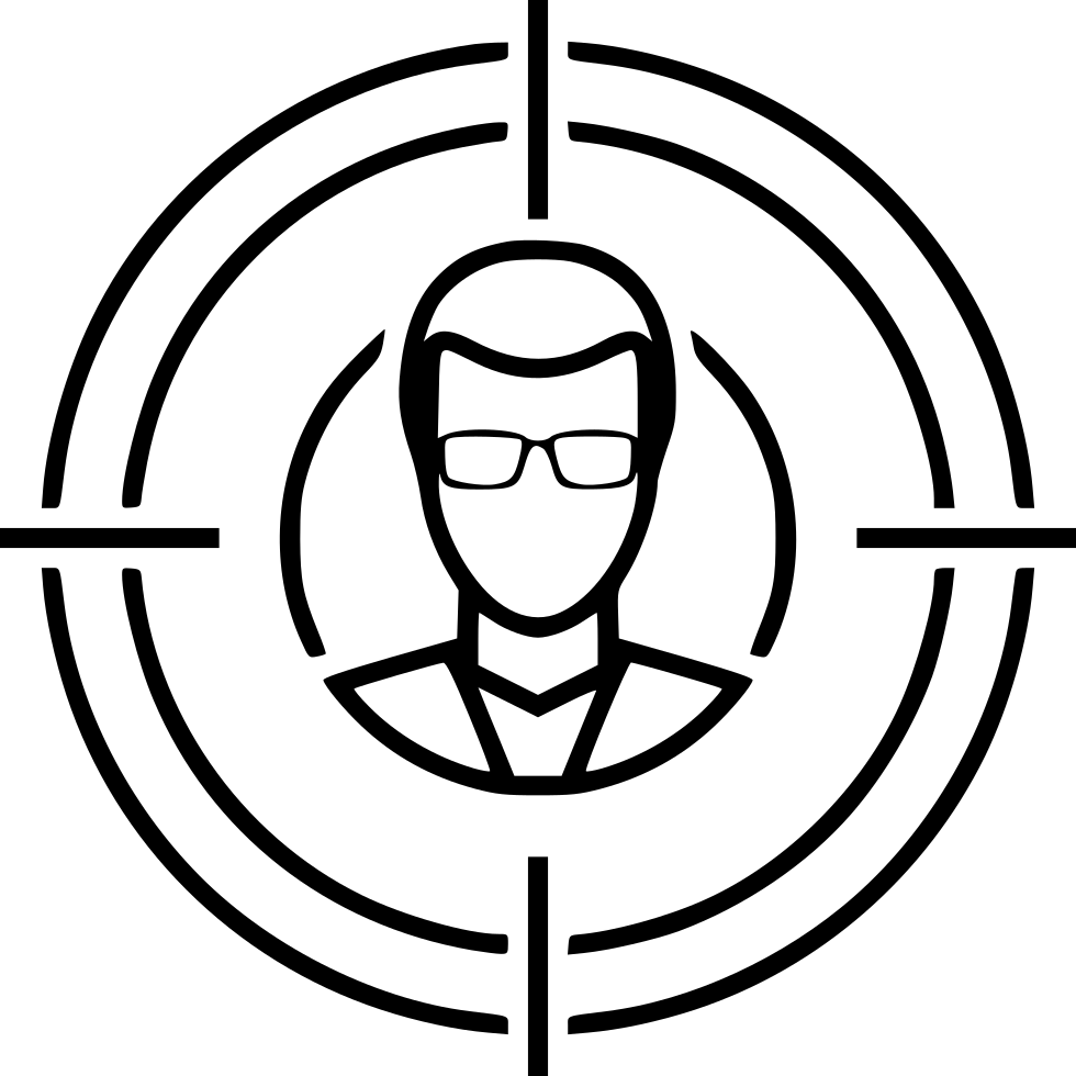 Target audience png. Marketing svg icon free