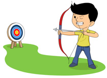 Image result for kids archery clipart