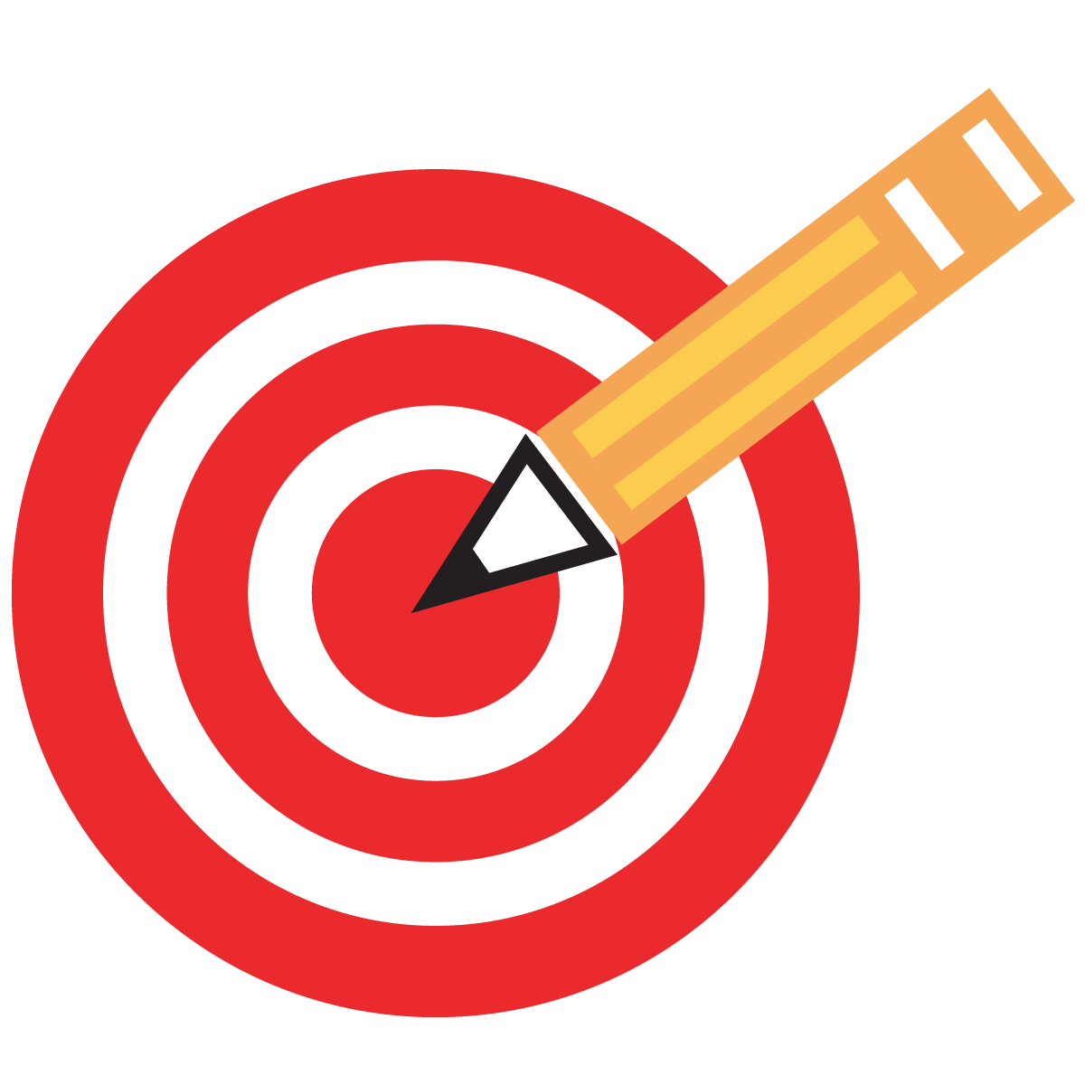 Target clipart data student. Goal group pencil and