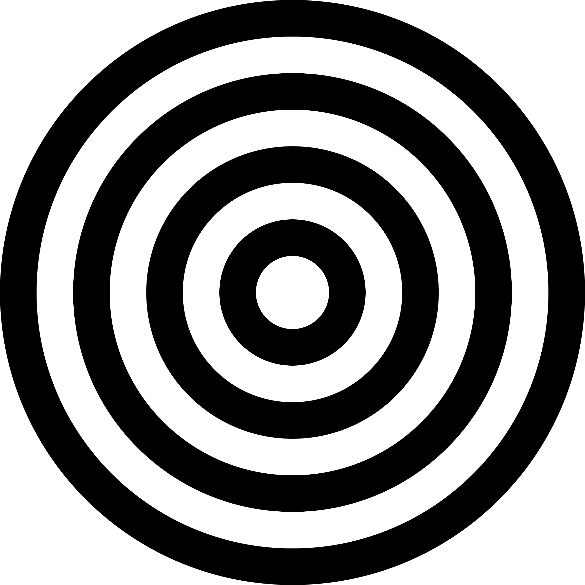Vector target black and white. Transparent png stickpng