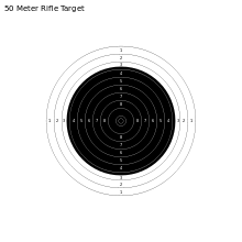 Target svg 10 meter. Rifle three positions