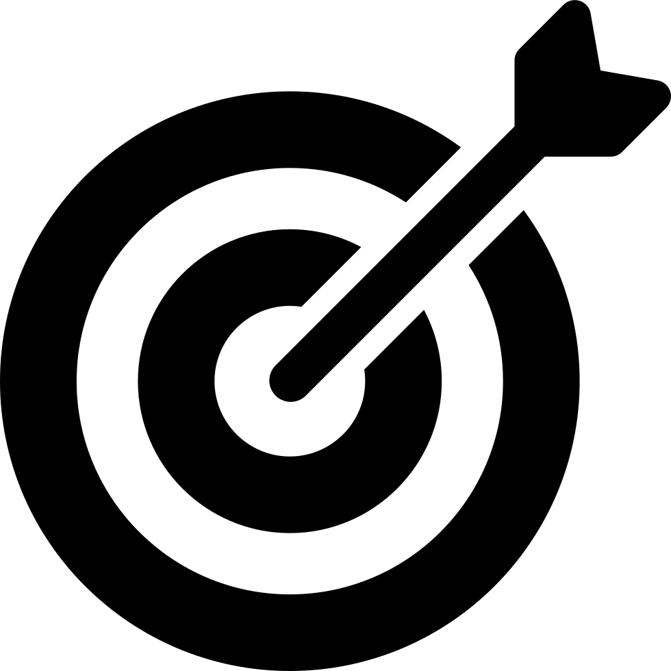 Target svg white. Arrow in the png
