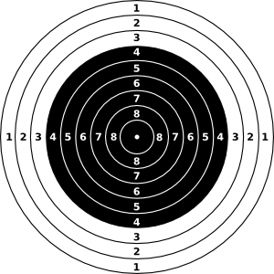 Vector target black and white. M air rifle clip