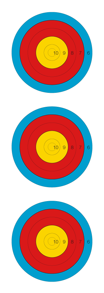 Scope vector shooting target. Archery world red and