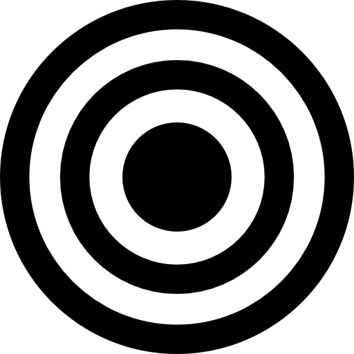 Targeting vector bow. Target of concentric circles