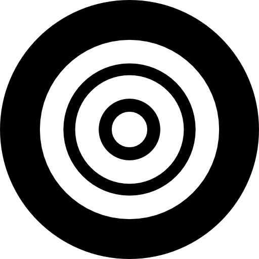 Targeting vector outline. Spiral target icons free