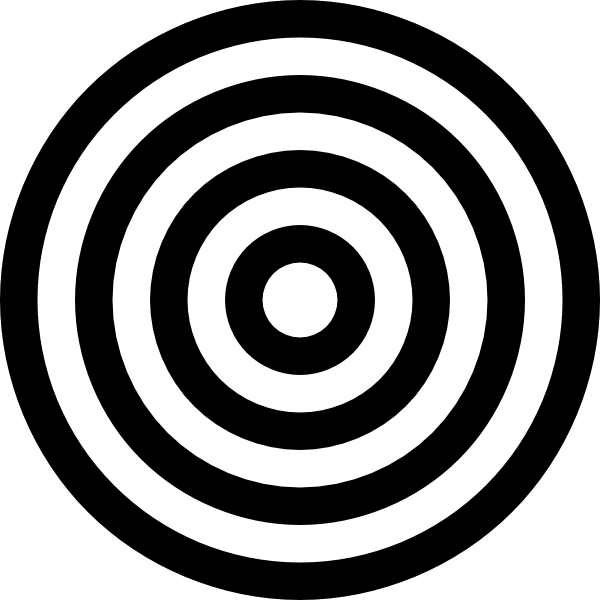 Vector target black and white. Clip art free cliparts