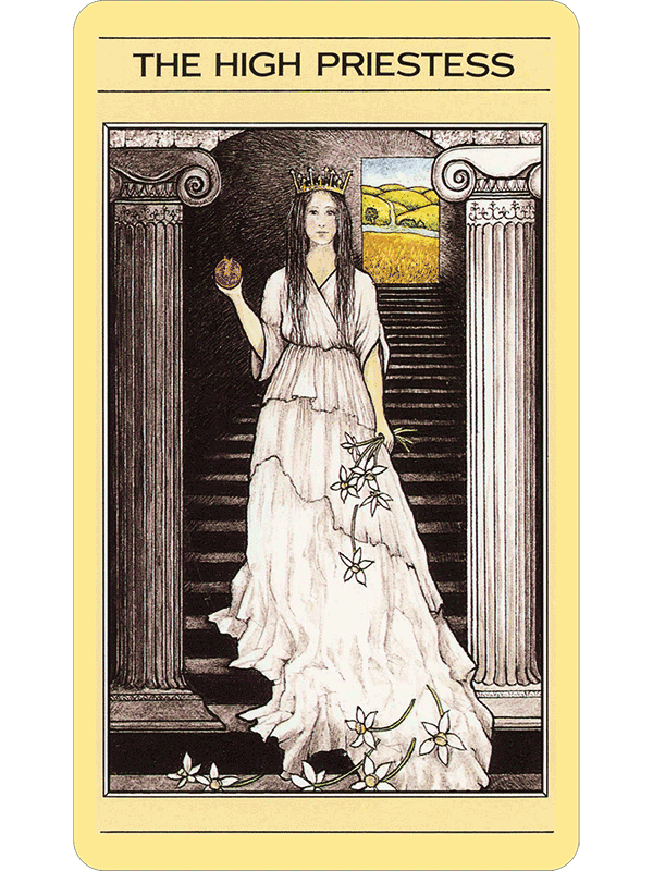 Tarot drawing high priestess. Mythic the fools dog