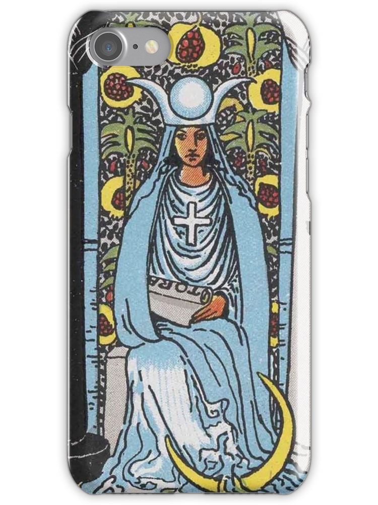 Tarot drawing high priestess. Card the iphone case