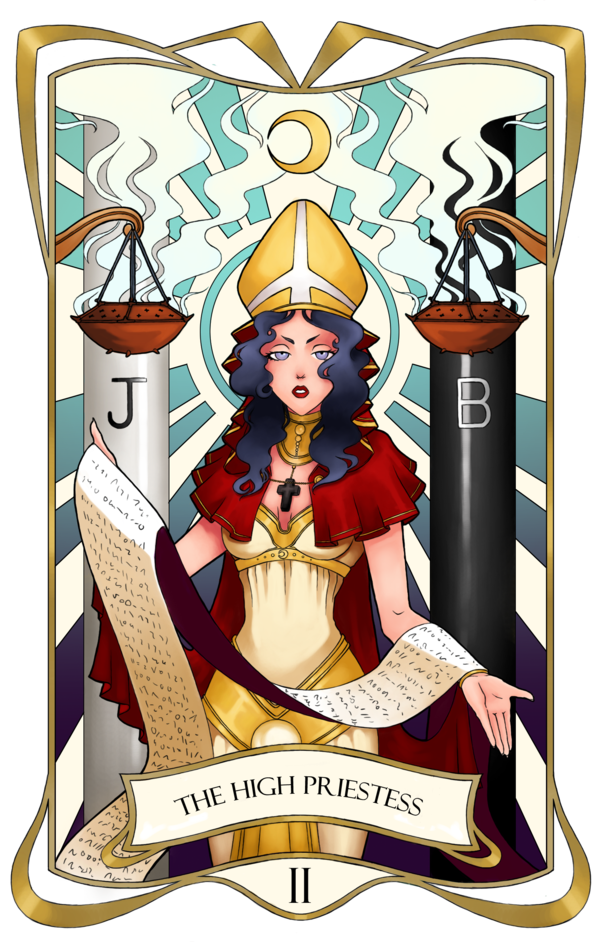 Tarot drawing high priestess. Card ii the by