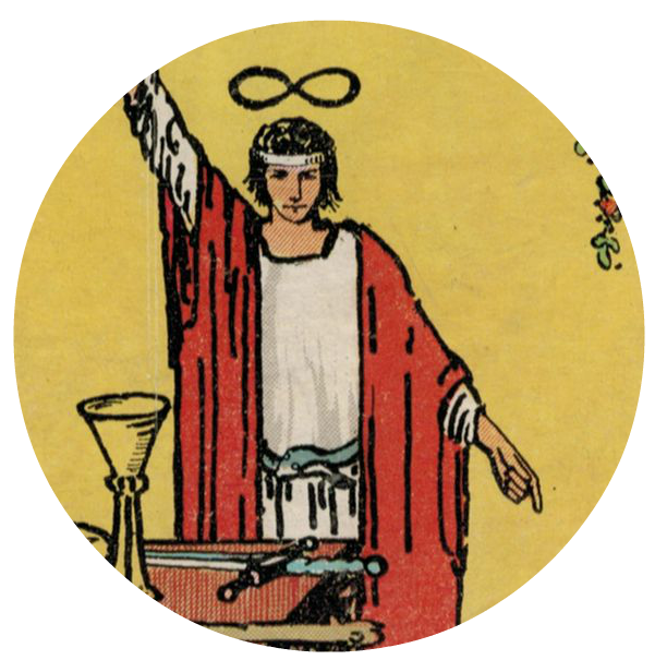 Tarot drawing magician. Card meaning the advice