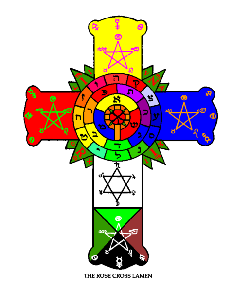Tarot drawing rosicrucian. Symbol rosicrucians wiccan things