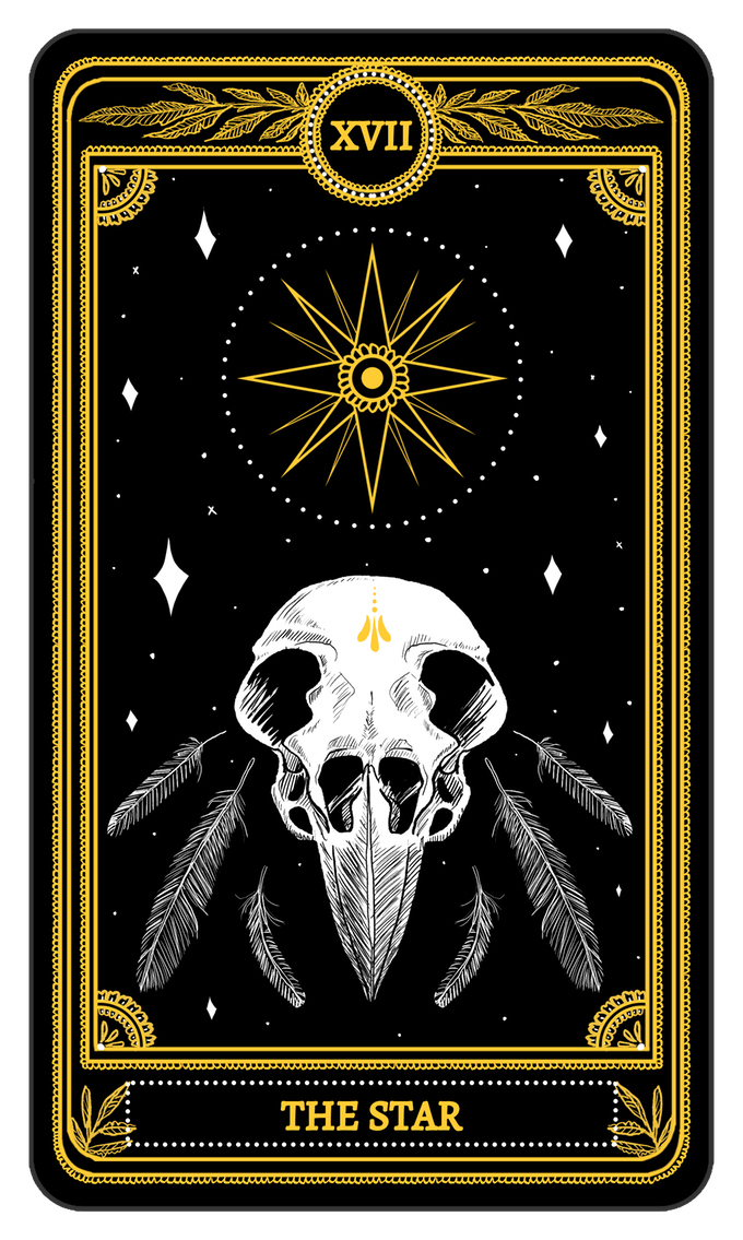 Tarot drawing star. The from major arcana
