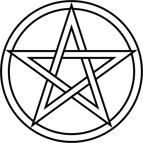 Tarot drawing symbol. The pentacle prophet