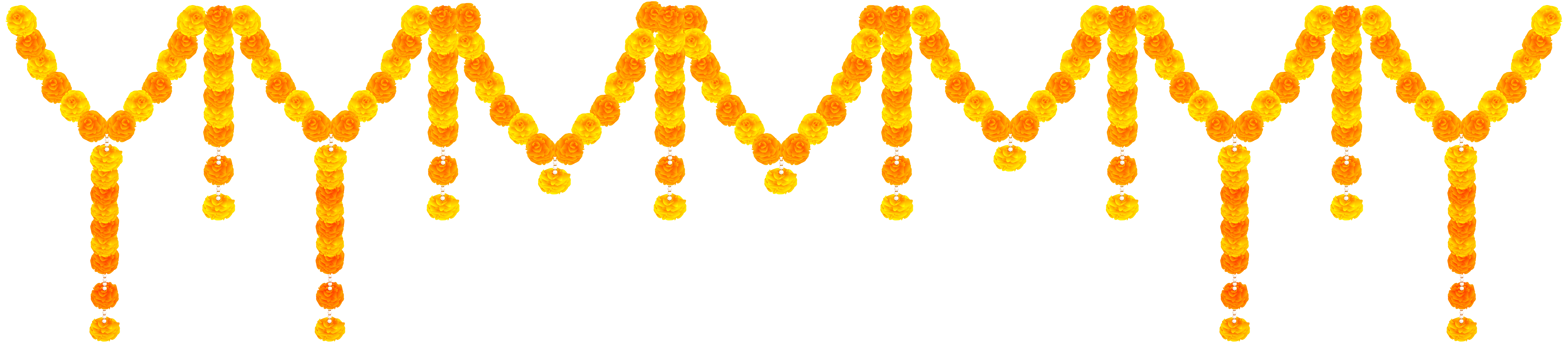 India flower transparent clip. Garland png image vector royalty free download