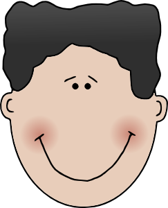 Vector expressions boy face. Clip art online royalty