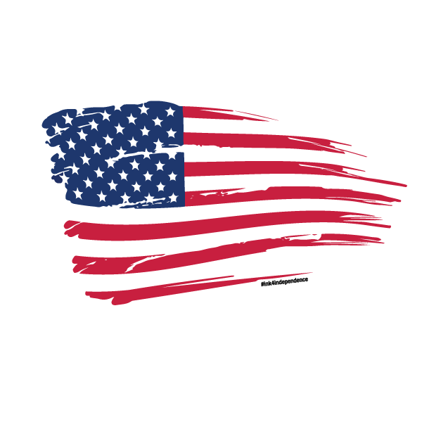 Stickers transparent american flag