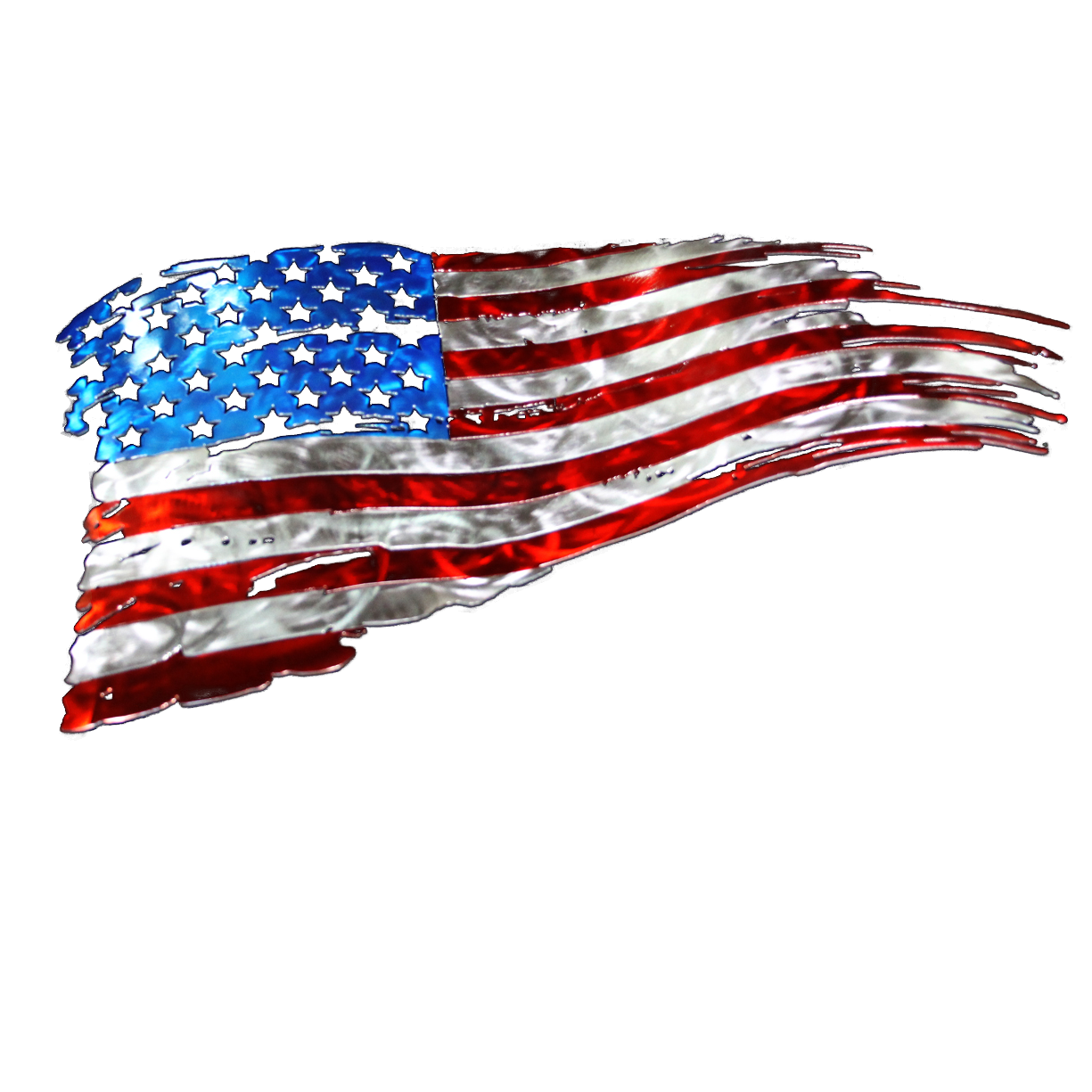 Tattered american flag png.
