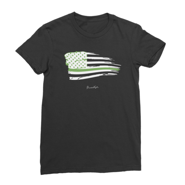 Tattered flag png. Military thin green line