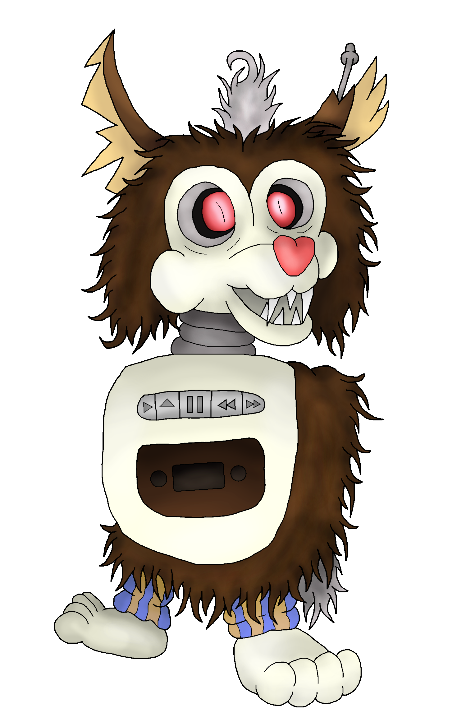Tattletail drawing 8 bit. Yet another small spew