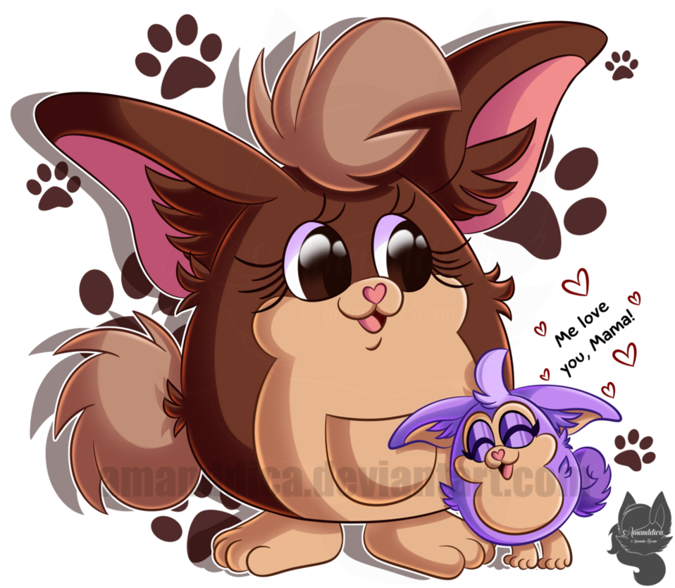 Tattletail drawing anime. Love the mama by