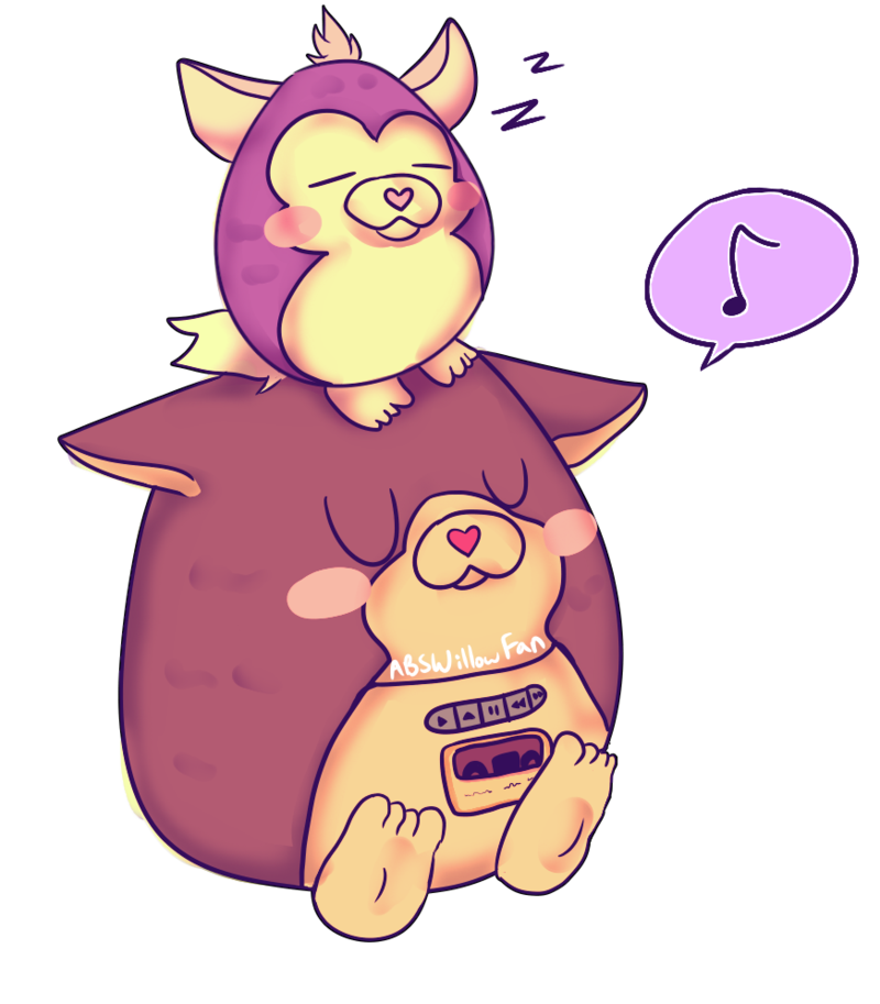 tattletail drawing pink