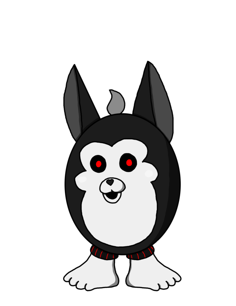 Tattletail drawing white. Shadow by richardthedarkboy on