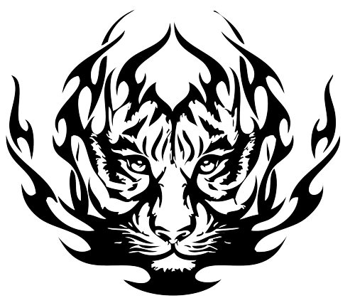tigers drawing ink