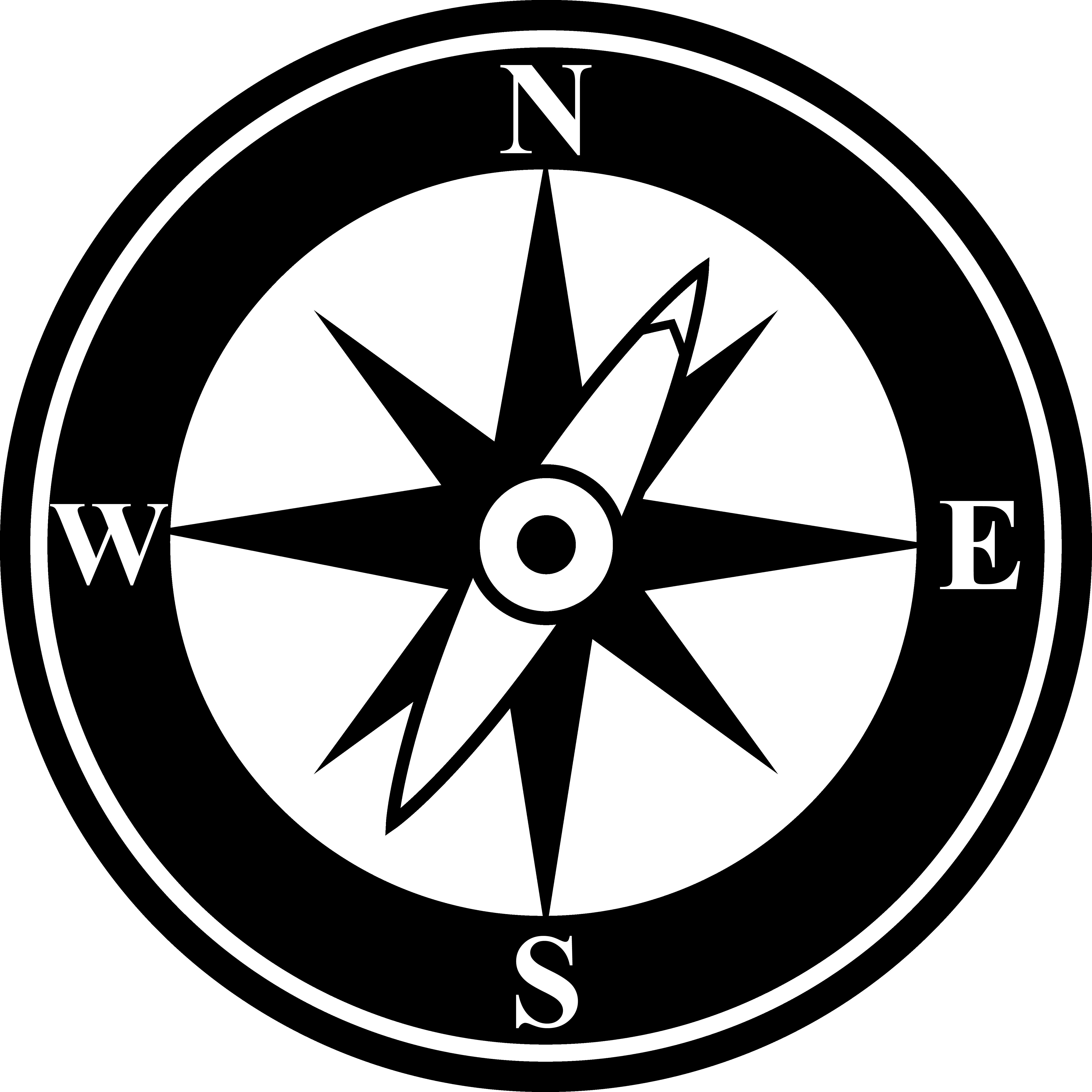 Vector pointers navigation. Compass rose tattoo designs