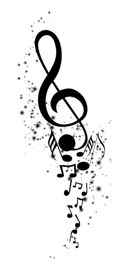 Tattoo Music Note Transparent Clipart Free Download