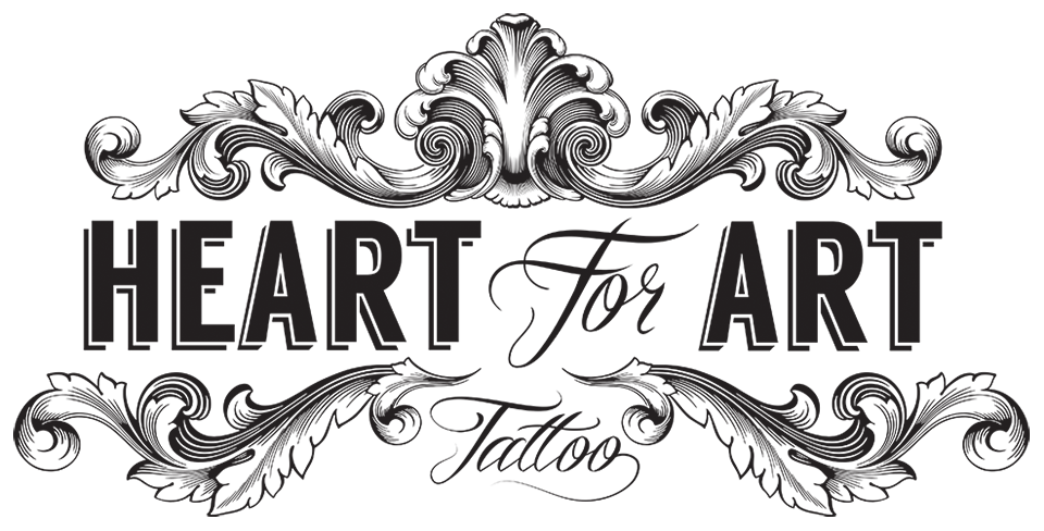 Tattoo clipart tattoo shop. Heart with banner designs