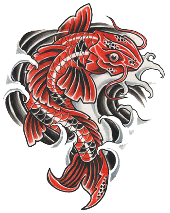 koi tattoo png