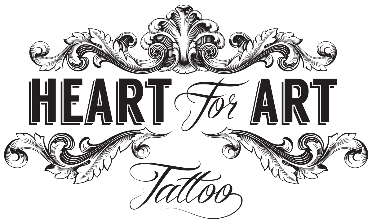 Tattoo logo png. Heart for art bespoke