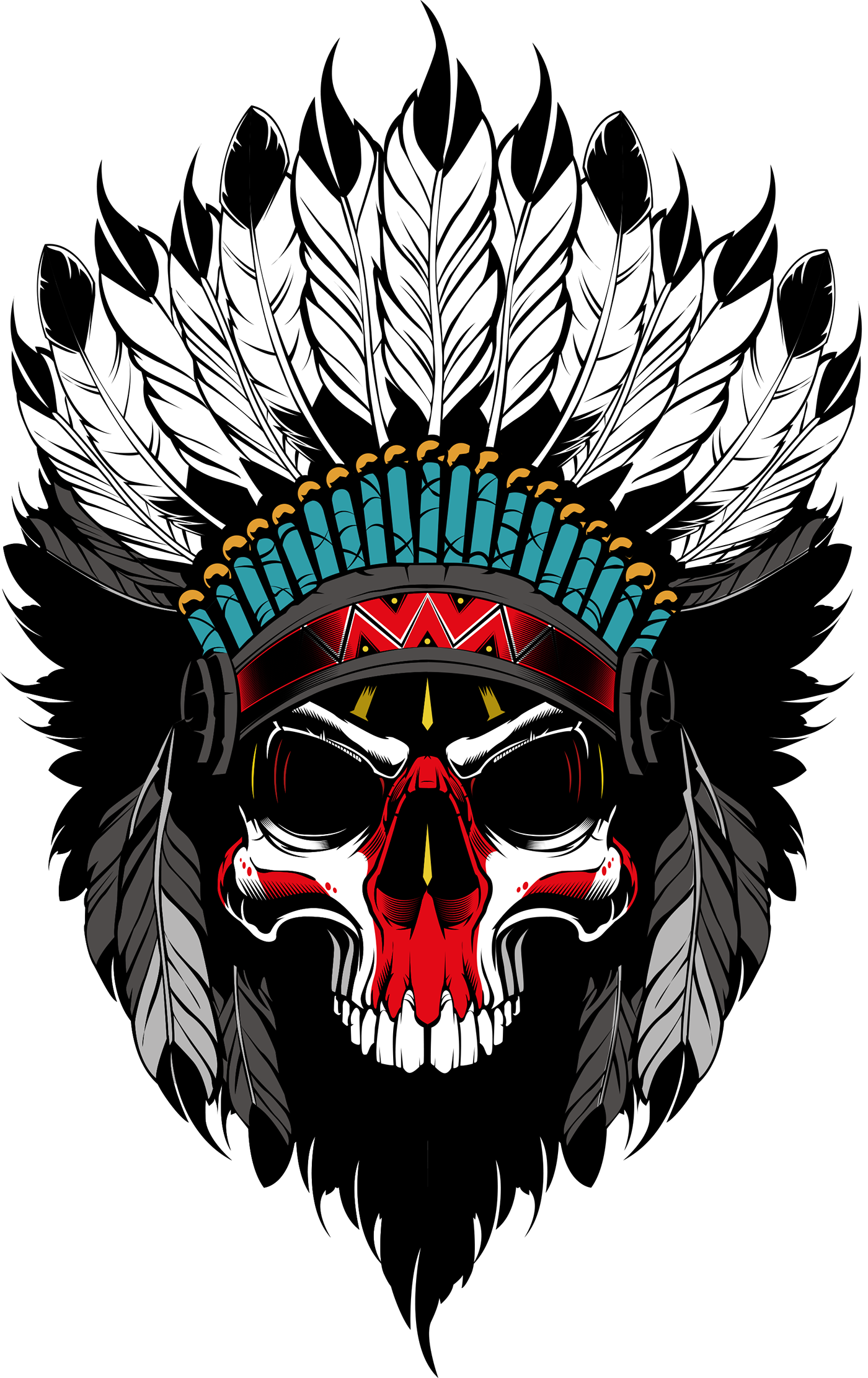 Tattoo skull png. Indian s on behance