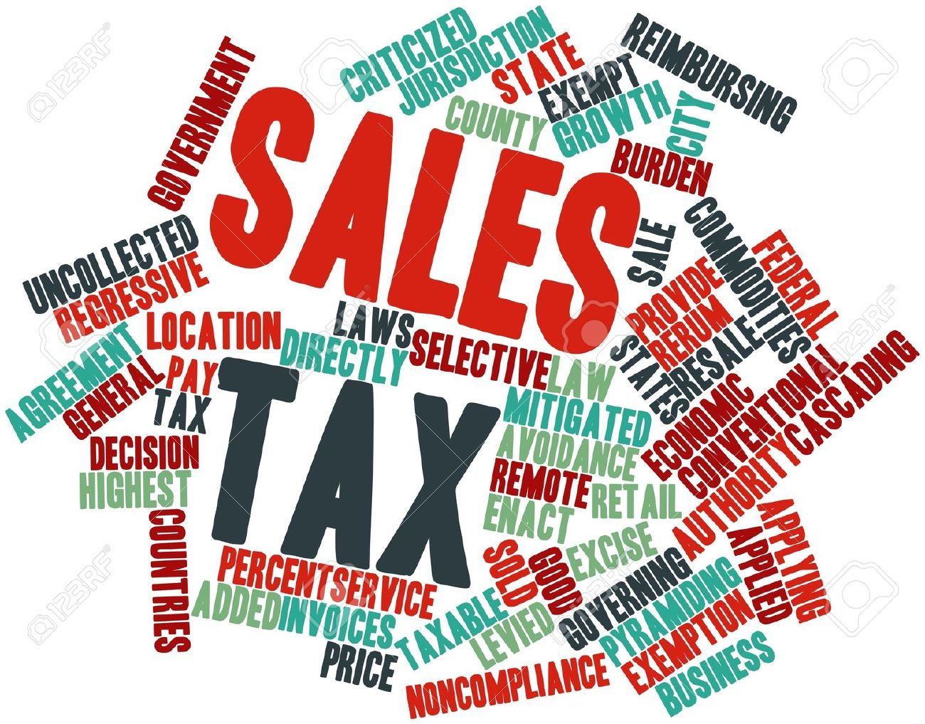 Tax clipart sales tax. Abstract word cloud