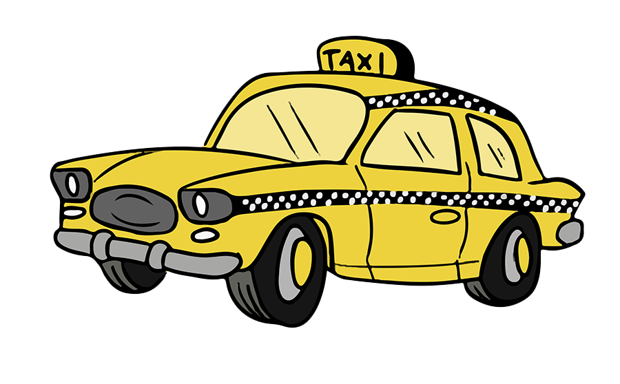 Nice cartoon taxi clip. Driving clipart cab driver graphic free