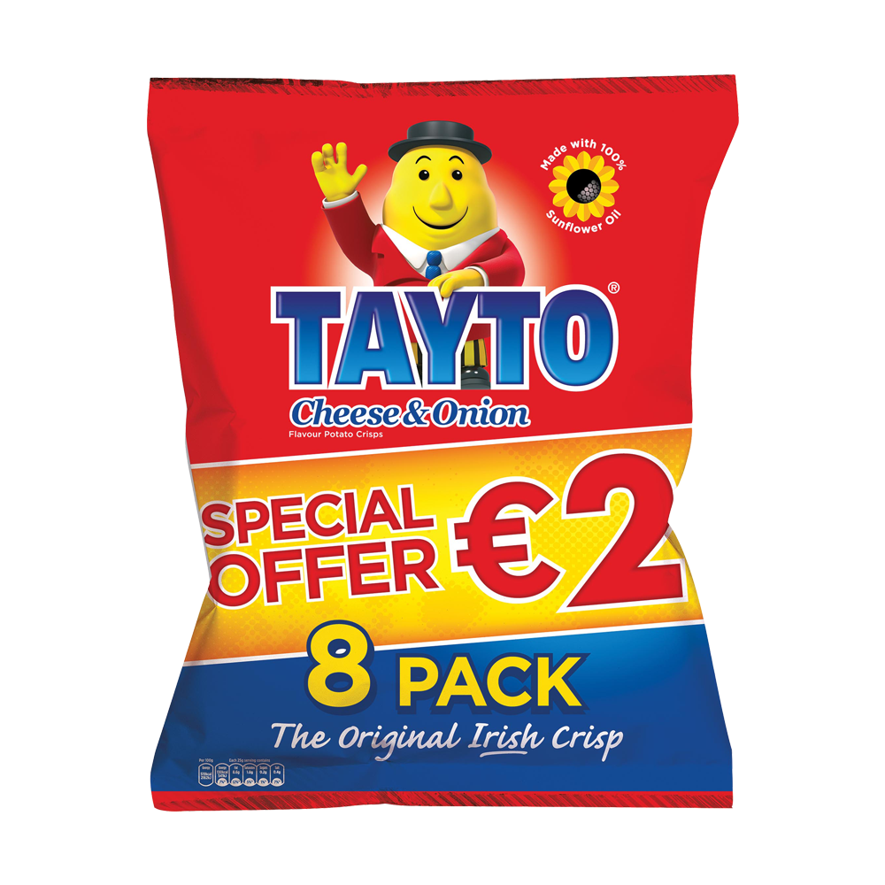 Tayto chips png. Cheese onion x g