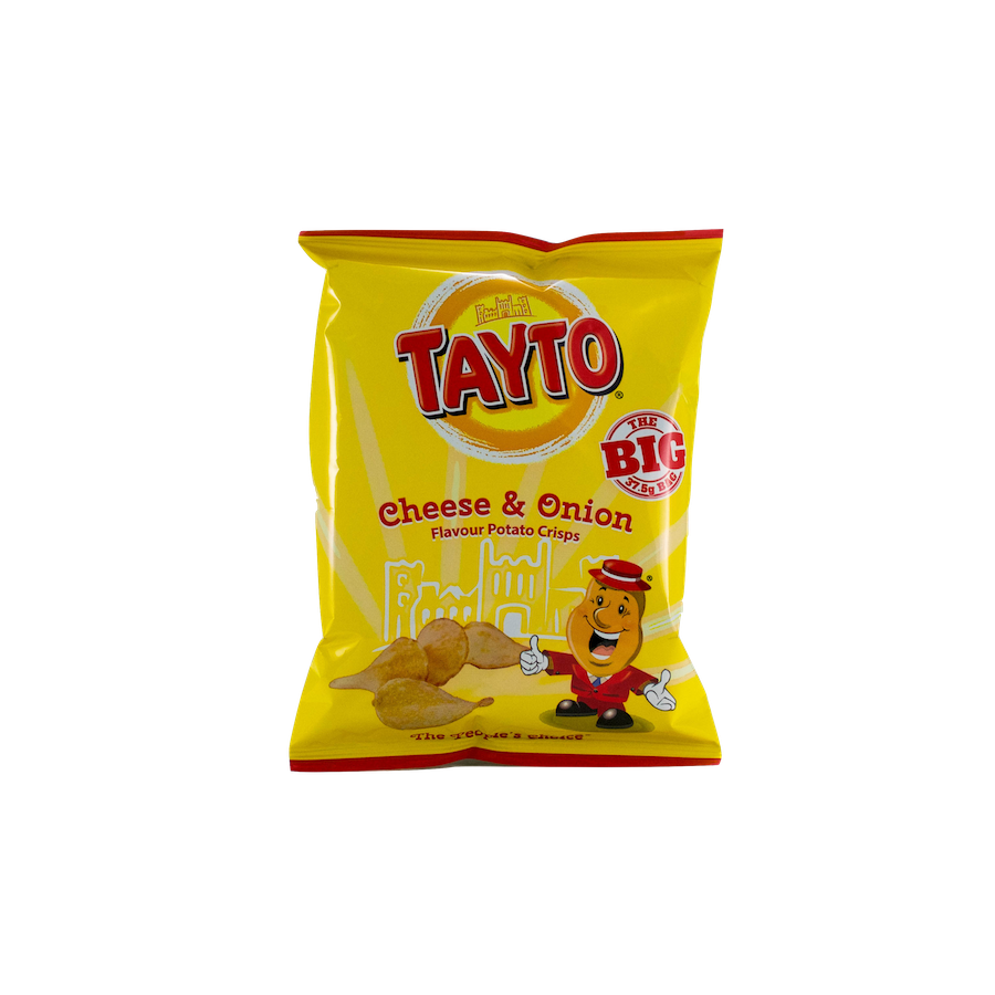 Tayto chips png. Cheese onion tidbit snacks