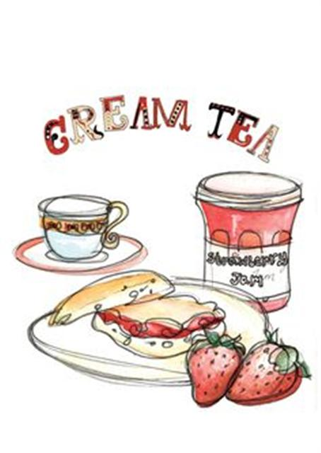 tea clipart cream tea