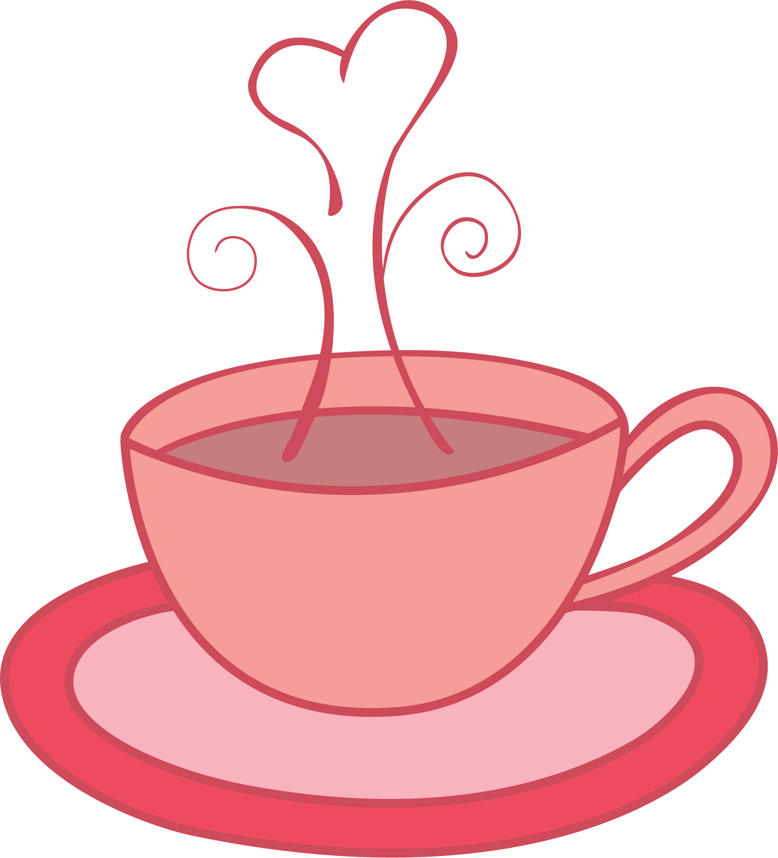 Kettle drawing tea cup. Collection of clipart