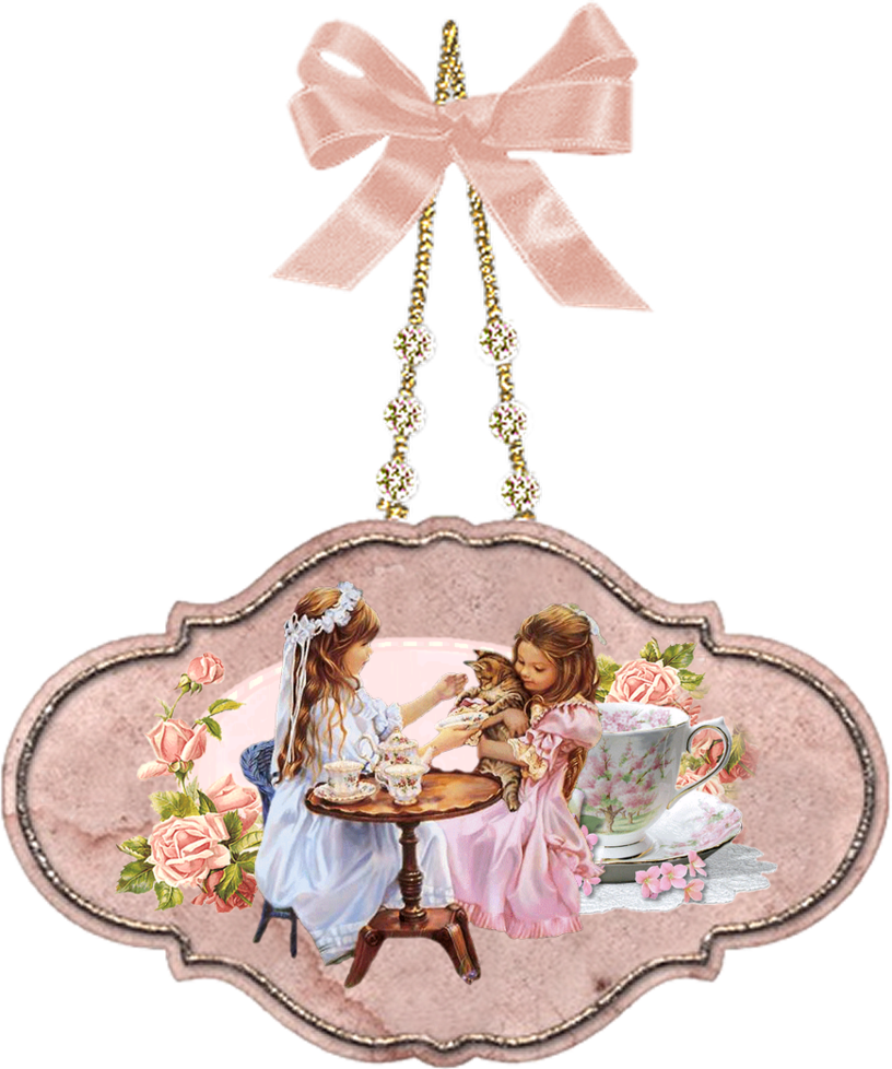 Tea party png. Hangingpicture by mysticmorning on